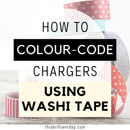 How To Colour-Code Chargers Using Washi Tape