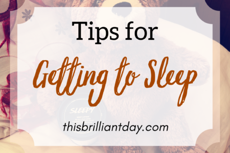 Tips for getting to sleep