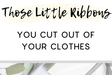 What to do with those little ribbons you cut out of your clothes
