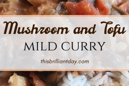 Mushroom and Tofu Mild Curry