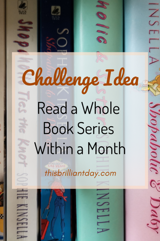 Challenge Idea - Read a Whole Book Series Within a Month