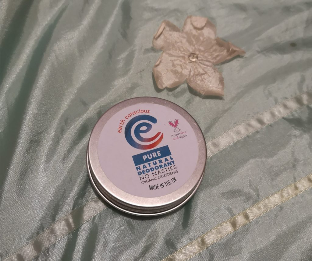 A tin of Earth Conscious Pure Natural Deodorant