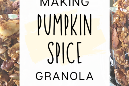 Making Pumpkin Spice Granola