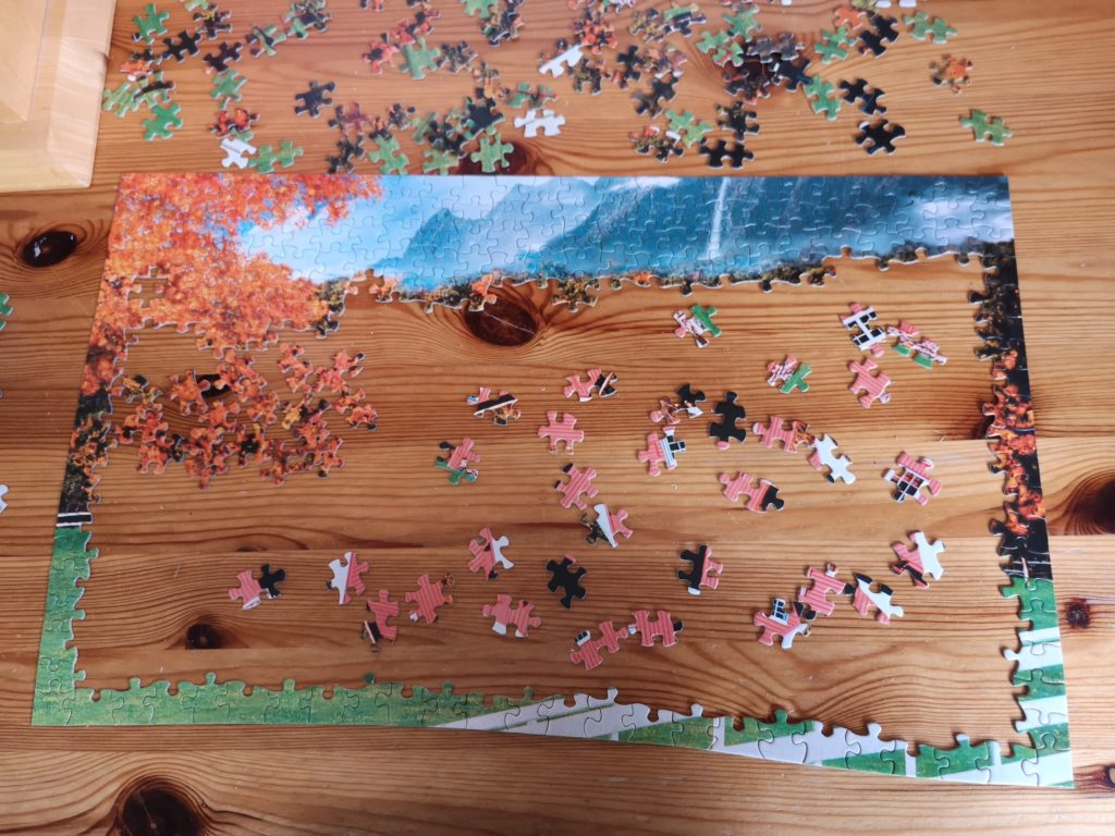 An Autumnal jigsaw, partly completed
