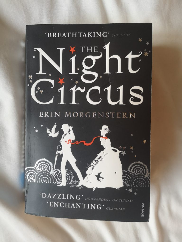 Paperback copy of The Night Circus by Erin Morgenstern