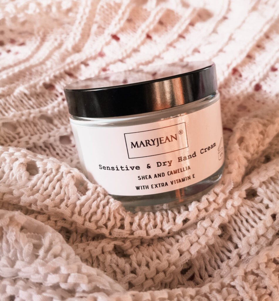 A jar of Mary Jean Sensitive & Dry Hand Cream - Shea and Camelllia