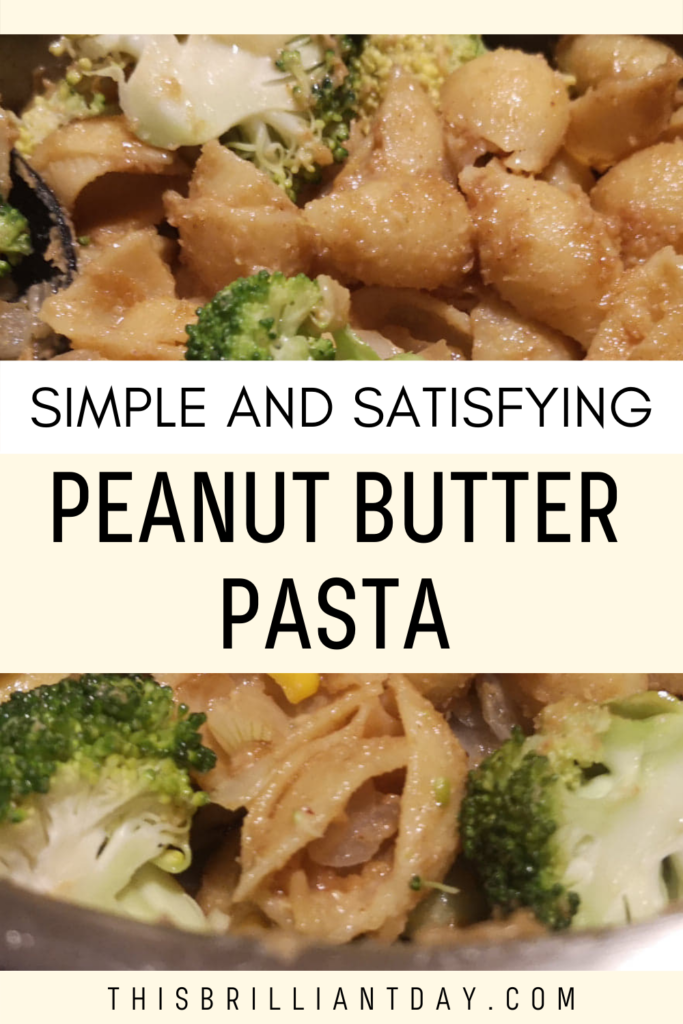Simple and Satisfying Peanut Butter Pasta