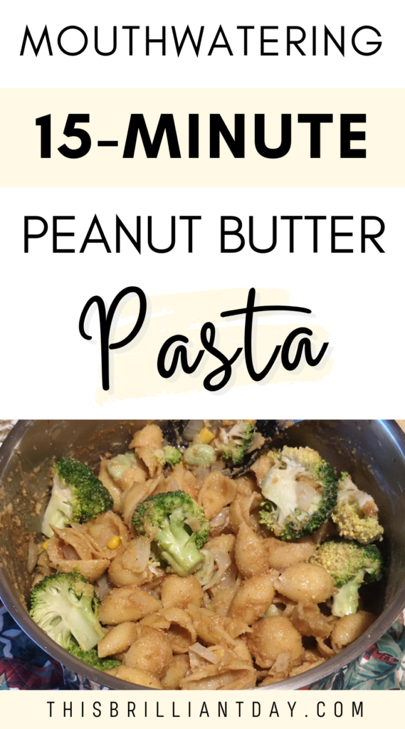 Mouthwatering 15-minute peanut butter pasta