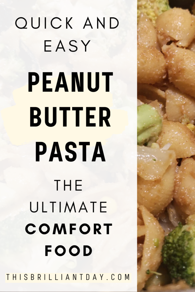 Quick and easy peanut butter pasta - the ultimate comfort food.