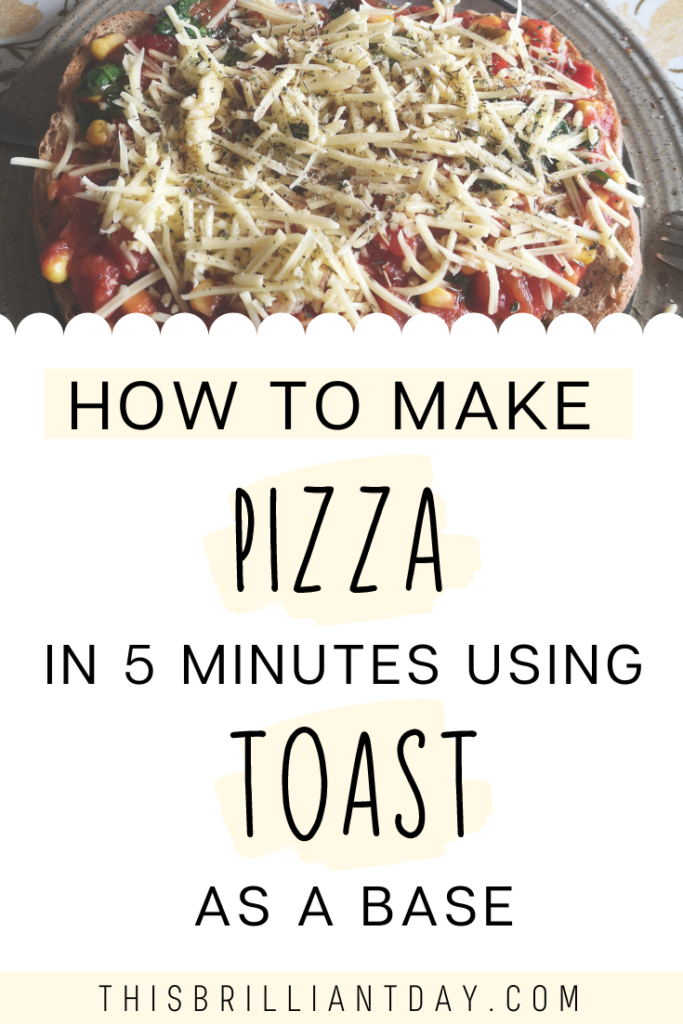 How to make pizza in 5 minutes using toast as a base.