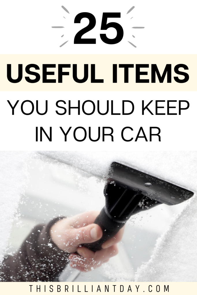 25 Useful Items You Should Keep In Your Car
