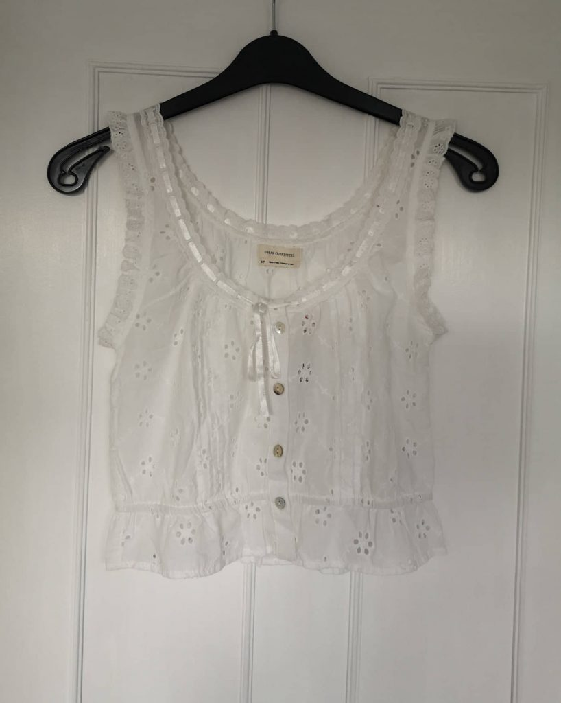 Urban Outfitters white broderie top